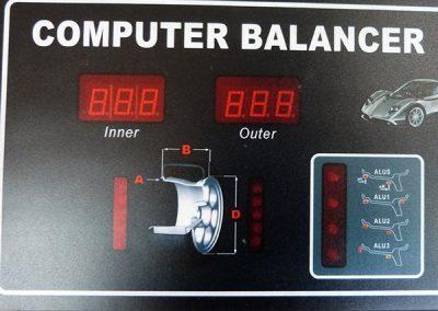 balanceadora DEQ02BW painel