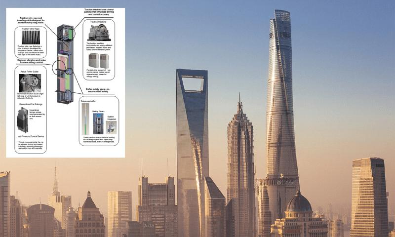 O elevador mais rápido do mundo